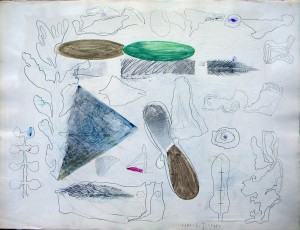 Wilde tuin, 650x520 mm.,1981