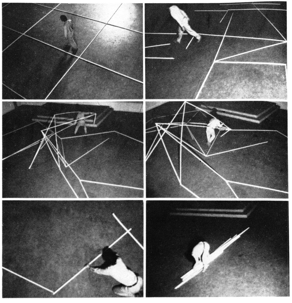 Negen rechthoeken,performance,ihkv.,Festival Works and Words,Stichting De Appel,1979,Amsterdam