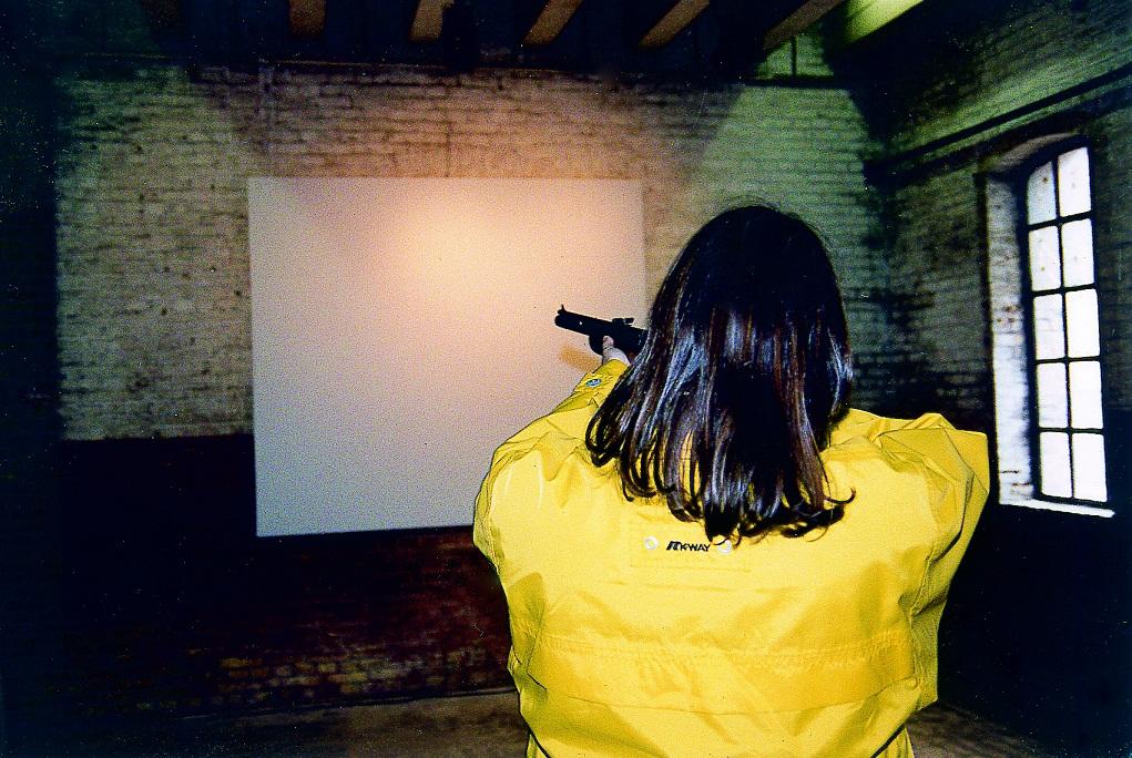 The Versus Image,participatie/performance met 99 schutters,1997,DeVeemvloer,Amsterdam
