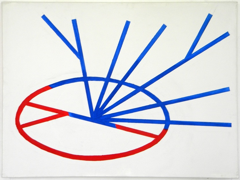 Émanatie v/h wiel,acryl/canvas,100x75cm.,2009