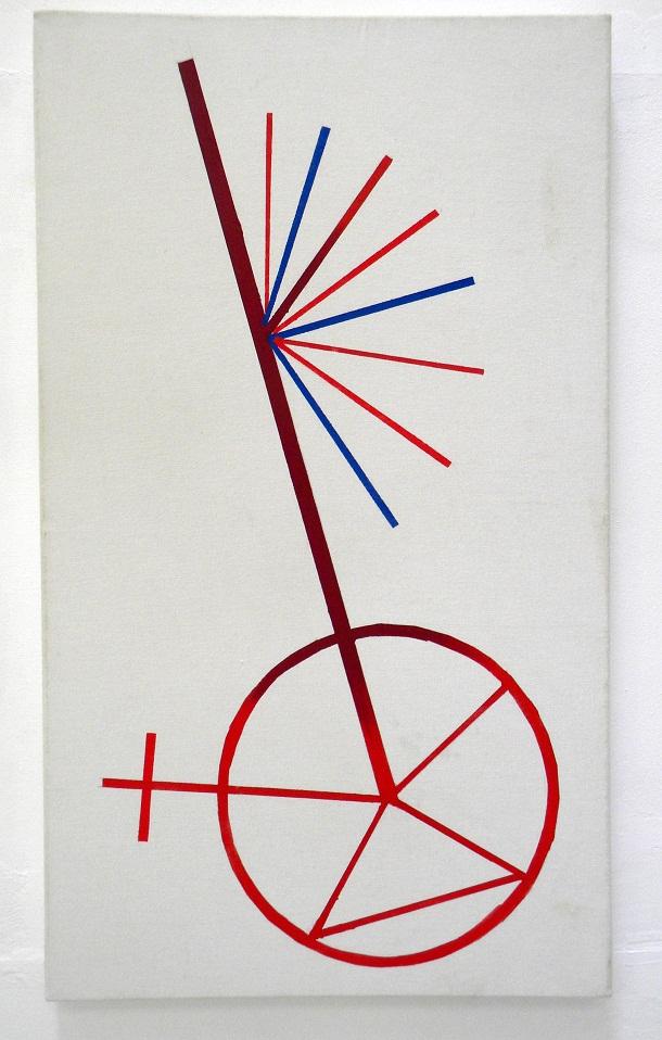 Émanatie(waaier),acryl/canvas,60x102cm.,2009