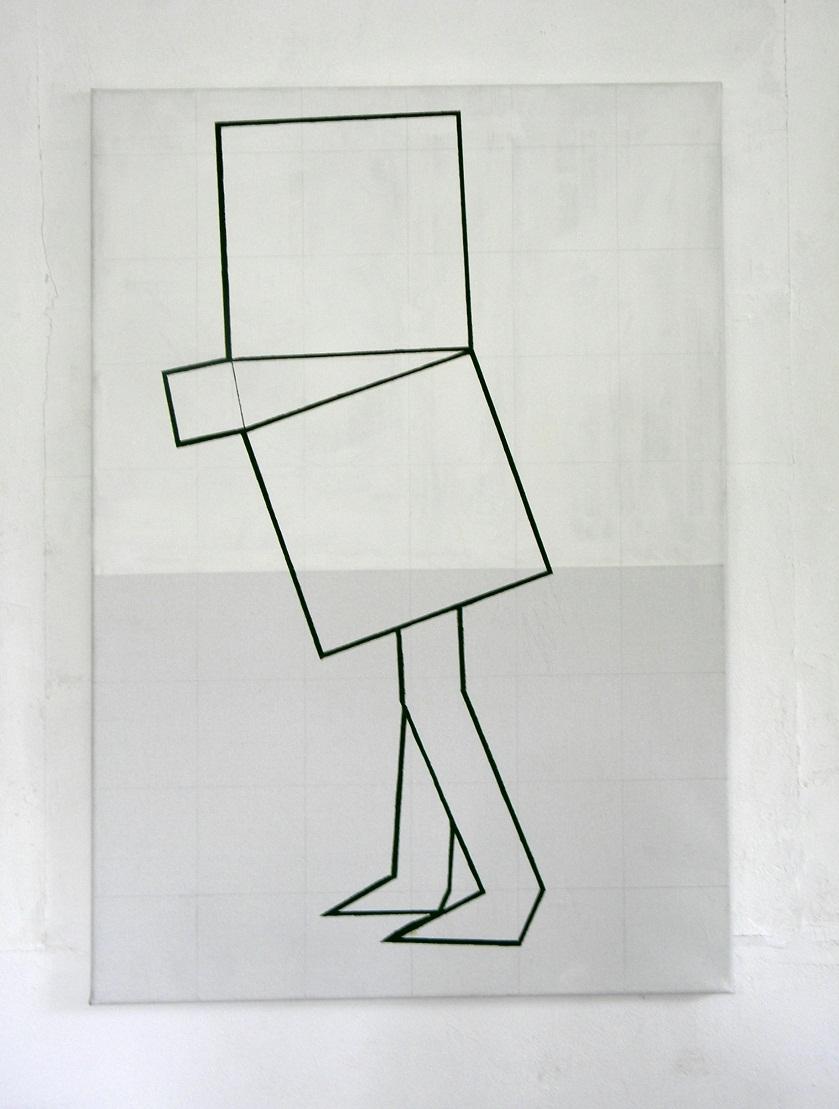 Phythagorasmannetje,115x80cm.,o./l.,2009