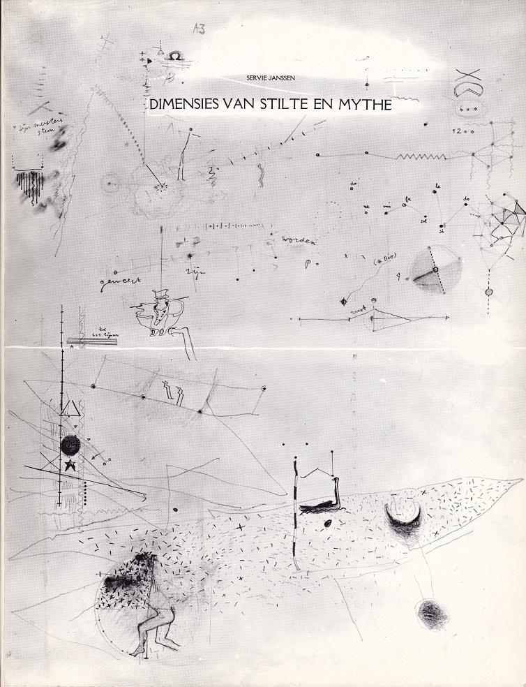 Dimensies van Stilte en Mythe,boek,28x21x1,2cm.,ed;250, 1974,Maastricht
