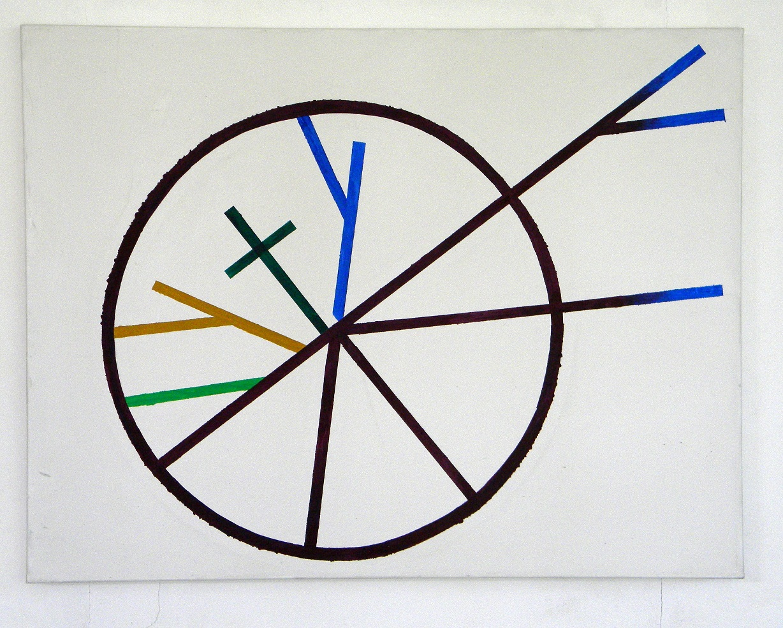 Émanatie van het rad, 110x80 cm., acryl/canvas,2011