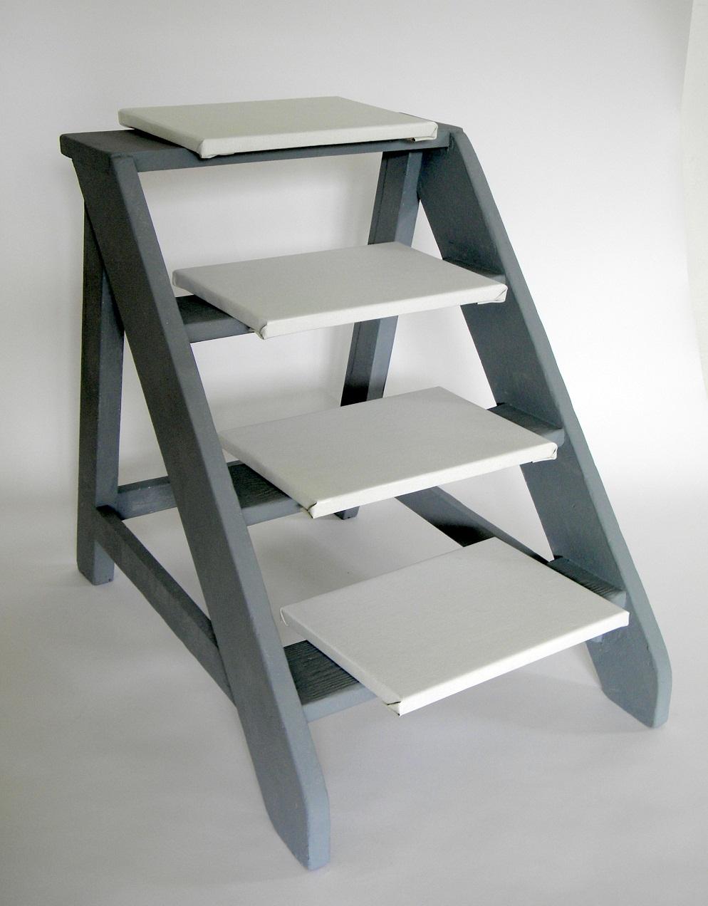De rug van het moment,75x53x75cm.)acryl,hout,4 panelen, 2012