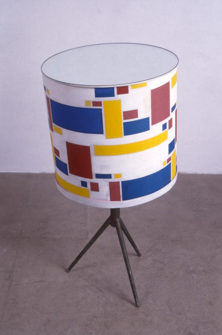 TomTom,2001,ijzer,karton,acryl,spiegel,78x40x40cm.