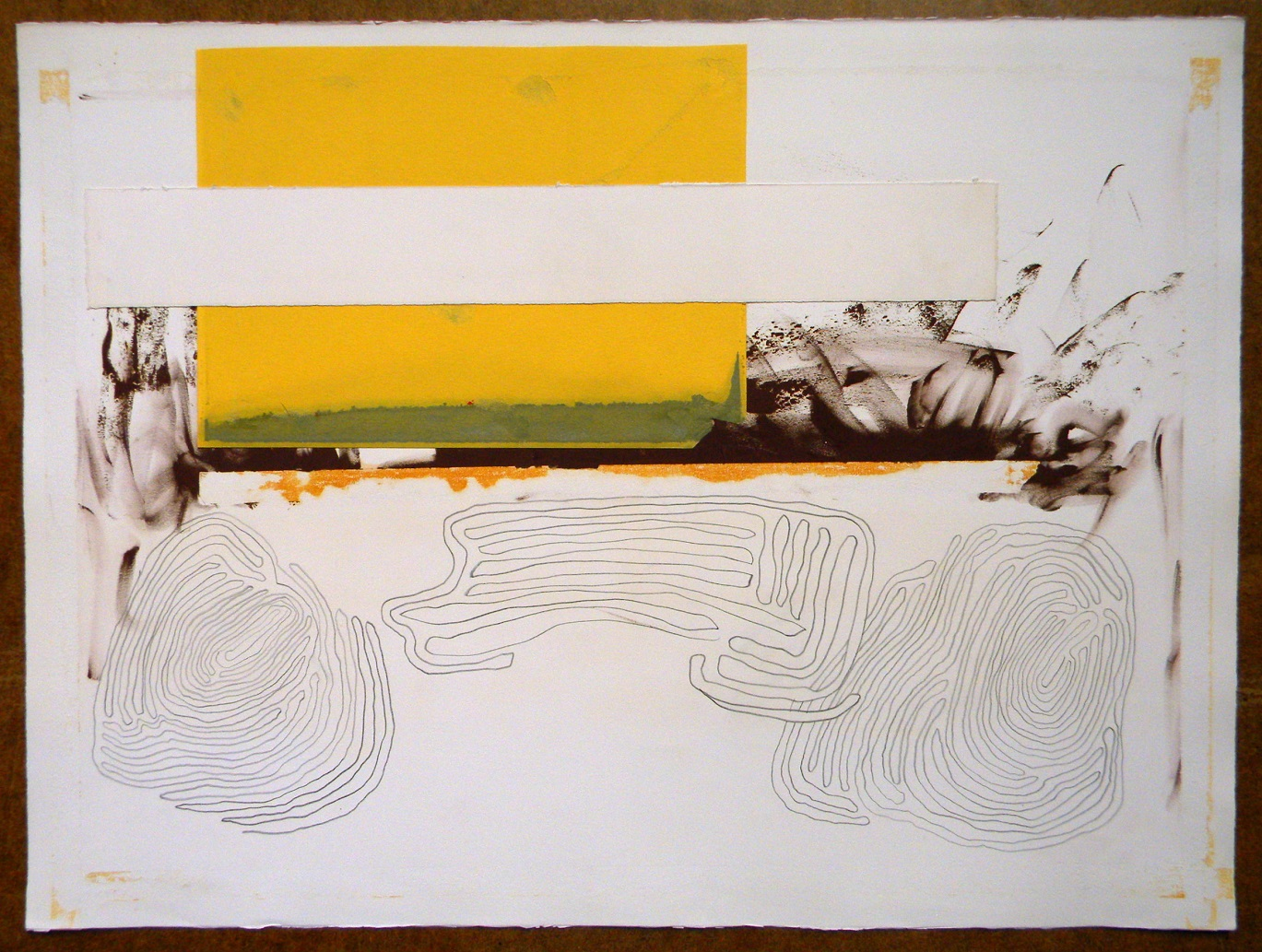Twice yellow,700x550mm.,2011