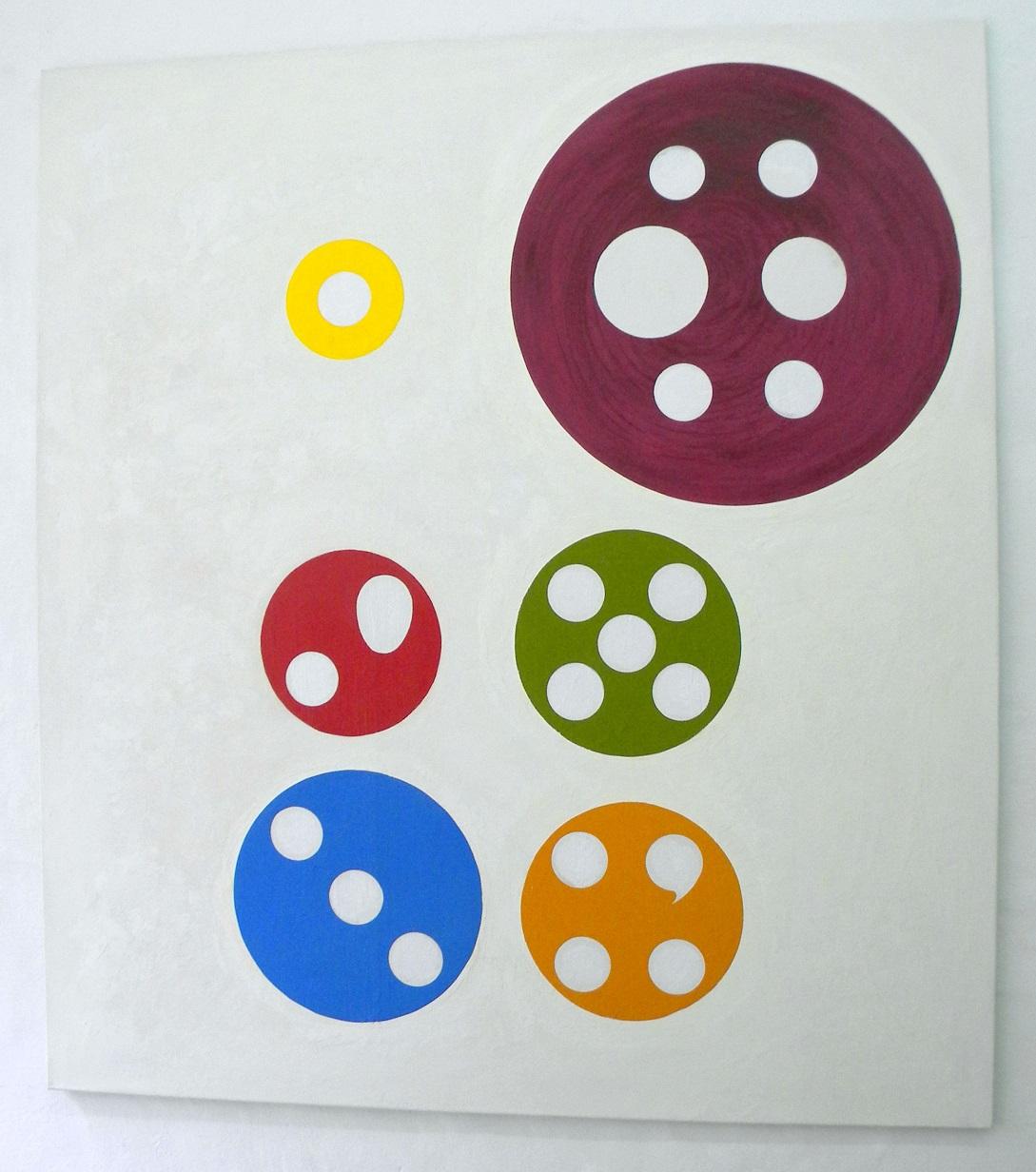 Jongleur(II),180x200cm.,o./l.,acryl,1999