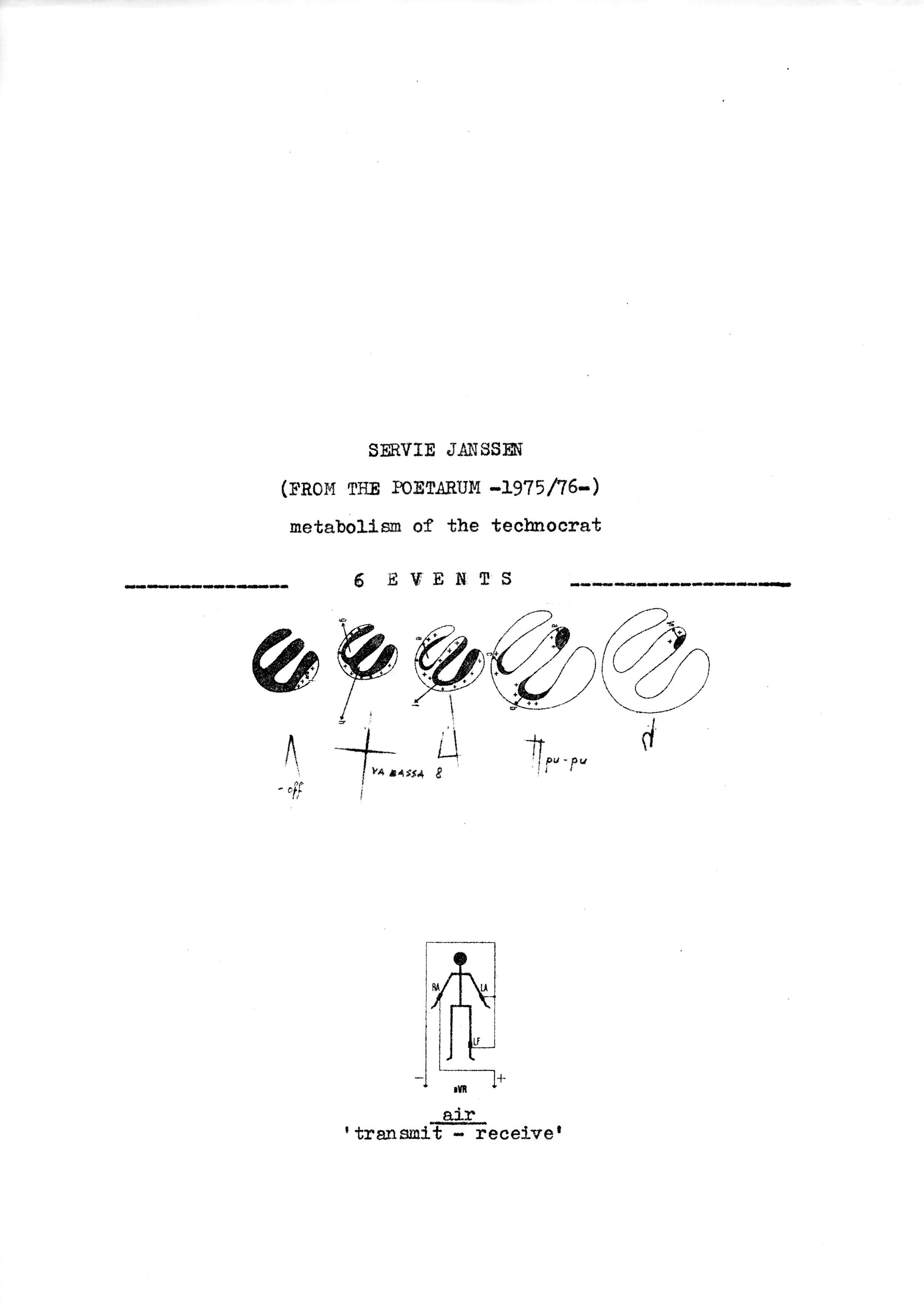 Metabolism of the technocrat,6 events,ed;100,32x23 cm., Verlag/Galerie Leaman,1976,Düsseldorf,D